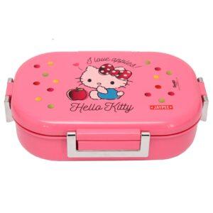 Jaypee Missteel Insulated Hello Kitty Plastic Lunch Box Set, 700ml, 3-Pieces - Pink-0