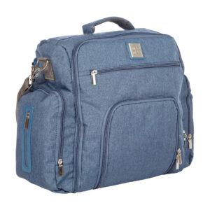 MeeMee Multipurpose Diaper Bag Backpack - Denim Blue-0