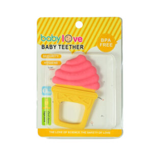 Baby Teether for Oral Development, Ice-cream - Pink/Yellow-0