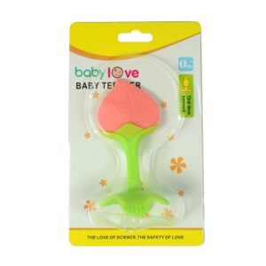 Baby Teether for Oral Development - Green/Pink-0