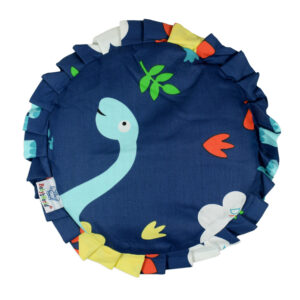 Mustard Seed, Rai Pillow For Baby Head Shaping, Dino - Blue-0