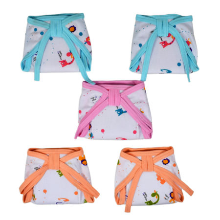 Baby's World Soft Padded Nappy Pack of 5 - Small-0