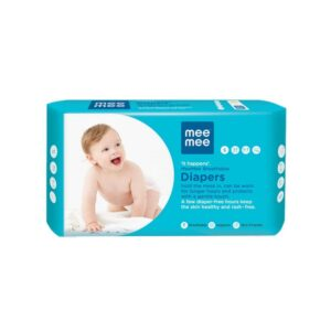 Mee Mee Premium Breathable Baby Diapers with Wetness Indicator (Small) 3-8 kg - 22pcs-0