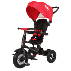 Qplay Rito 6-in-1 Baby Stroller Tricycle with Push Bar - Red-0