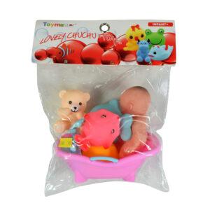 Soft Choo Choo Bath Toys, Squeeze Me Toy - Bath Theme -0