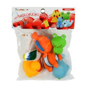 Soft Choo Choo Bath Toys, Squeeze Me Toy - Sea Animals-0
