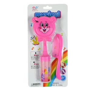 Baby Musical Hair-Brush & Comb Set - Pink-0