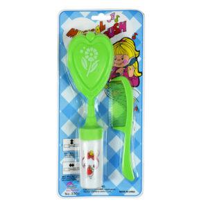 Baby Musical Hair-Brush & Comb Set - Green-0