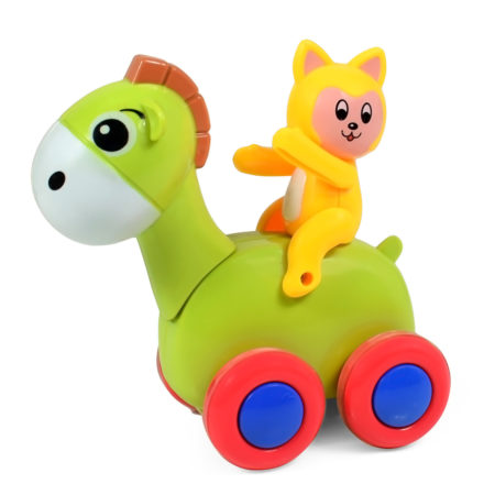 Baby Friction Toy, Wavy Movement (Camel) - Multicolor-0
