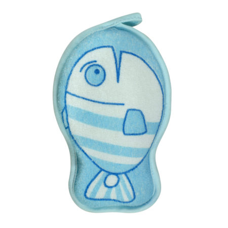 Soft Bath Sponge for Baby, Fish Shape - Multicolor-0