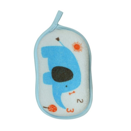 Soft Bath Sponge for Baby, Elephant - Sky Blue-0
