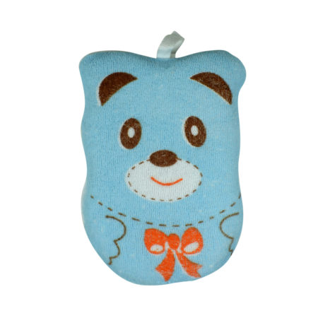 Soft Bath Sponge for Baby, Bear Shape - Sky Blue-0