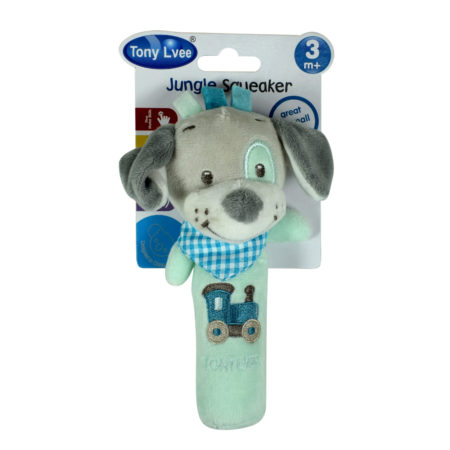 Tony Jungle Squeaker, Baby Rattle - Dog-0