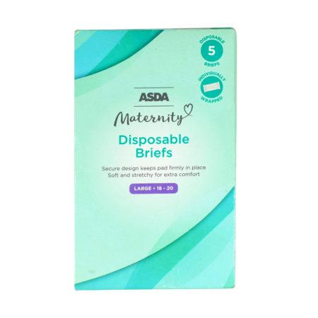 ASDA 5 Disposable Maternity Panties (Briefs) - (Large -18-20)-0