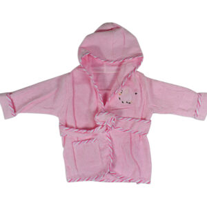 Baby Hooded Bathing Gown (Towel) - Pink-0