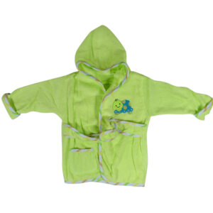 Baby Hooded Bathing Gown (Towel) - Green-0