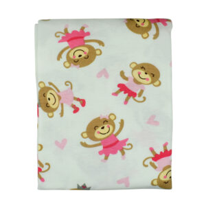 Hosiery Cotton Wrapping Sheet, Monkey - Multicolor-0