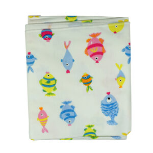 Hosiery Cotton Wrapping Sheet, Fish - Multicolor-0