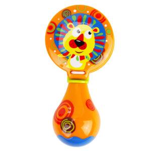 Premium Quality Baby Musical Rattle Castanets - Orange-0