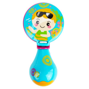 Premium Quality Baby Musical Rattle Castanets - Sky Blue-0