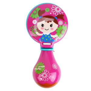 Premium Quality Baby Musical Rattle Castanets - Magenta-0
