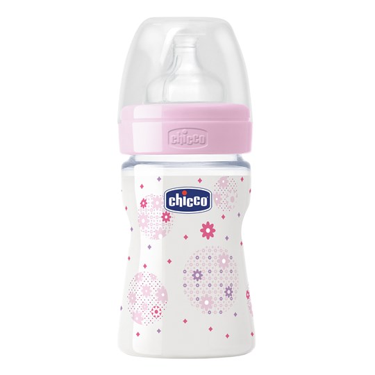Chicco Wellbeing PP Feeding Bottle Pink - 150 ml-0