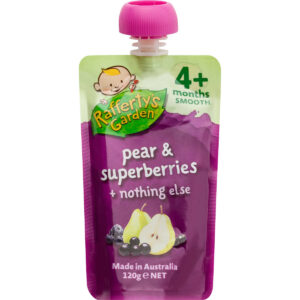 Rafferty's Garden Pear & Superberries Smooth Baby Food (4M+) - 120gm-0