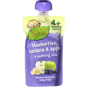 Rafferty's Garden Blueberries, Banana & Apple Smooth Baby Food (4M+) - 120gm-0