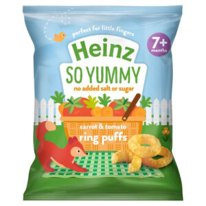 Heinz Carrot & Tomato Ring Puffs (7M+) -15g-0