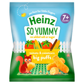 Heinz Tomato & Sweetcorn Big Puffs (7M+) -15g-0