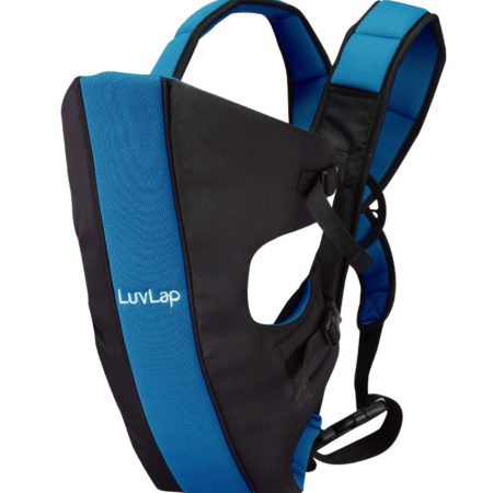 LuvLap Sunshine Baby Carrier (18283) - Black/Blue-0