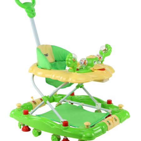 LuvLap Comfy Baby Walker Cum Rocker (18231) - Green-0