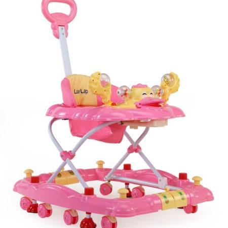 LuvLap Comfy Baby Walker Cum Rocker (18125) - Pink-0
