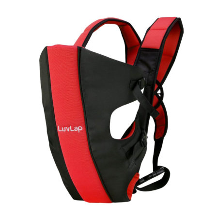 LuvLap Sunshine Baby Carrier (18284) - Black/Red-0