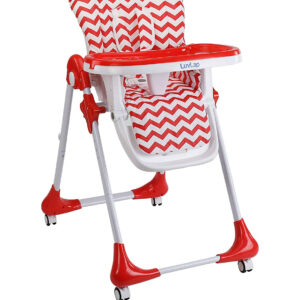 Luvlap Royal Highchair with Wheels - Red-0