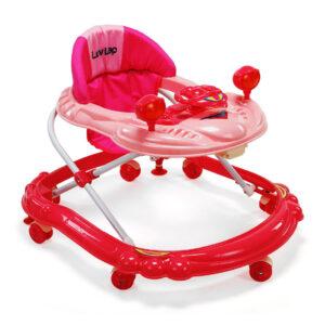 LuvLap Starshine Baby Walker - Pink-0