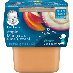 Gerber 2nd Foods, Apples & Mango with Rice Cereal, (113gm) 2-Count -0