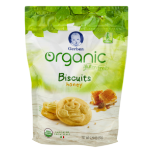 Gerber Organic Gluten Free Biscuits Honey - 150gm -0