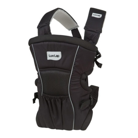 Luvlap Baby Carrier Blossom (18172) - Black-0