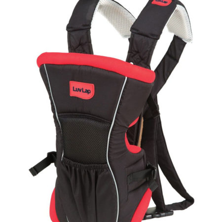 Luvlap Baby Carrier Blossom (18173) - Red/Black-0