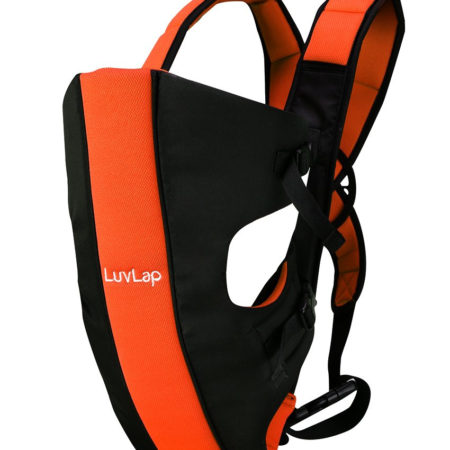 LuvLap Sunshine Baby Carrier (18286) - Black/Orange-0