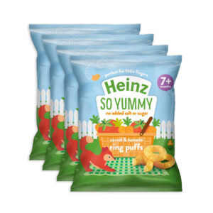 Heinz Carrot & Tomato Ring Puffs (7M+) - 4x15g Pack of 4-0