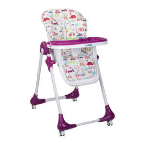 Luvlap Royal Highchair with Wheels - Purple-0