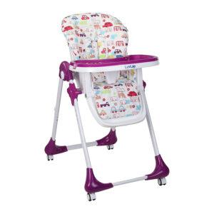 Luvlap Royal Highchair with Wheels - Purple-0