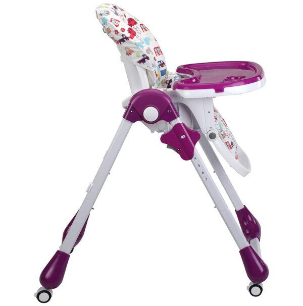 Luvlap Royal Highchair with Wheels - Purple-30299