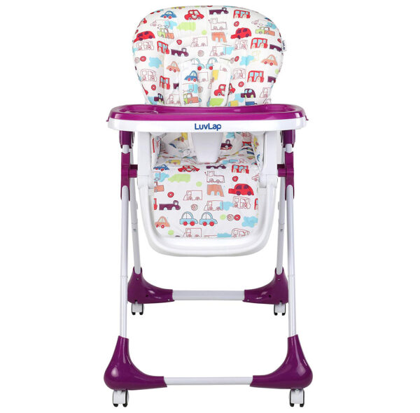 Luvlap Royal Highchair with Wheels - Purple-30301
