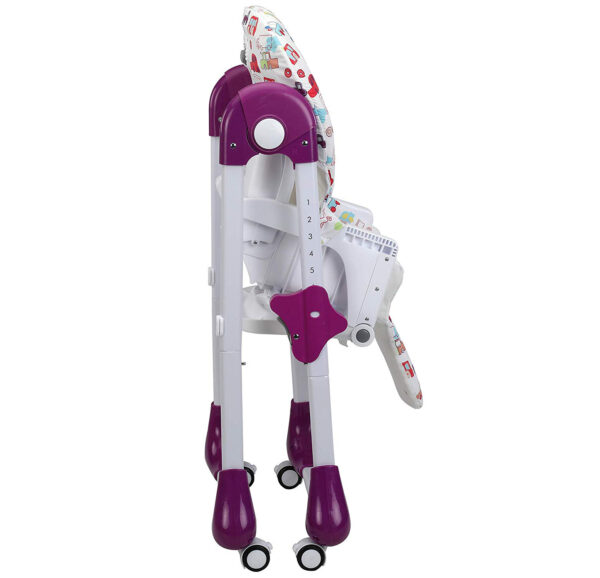 Luvlap Royal Highchair with Wheels - Purple-30304