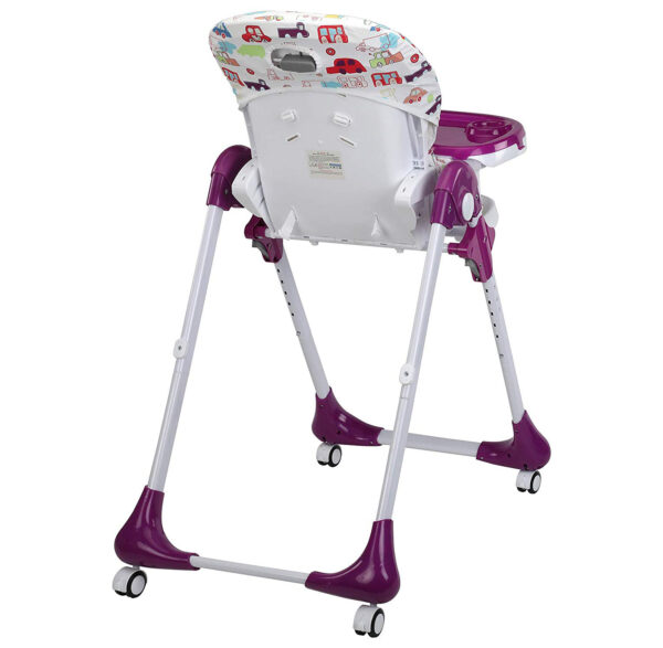Luvlap Royal Highchair with Wheels - Purple-30306