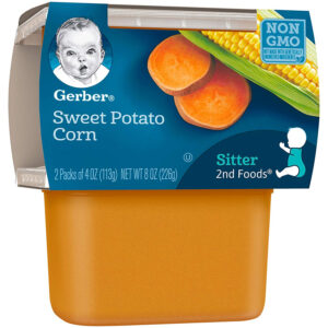 Gerber 2nd Foods,Sweet Potato Corn, Baby Food, 113gm Tube, 2-Count-29835
