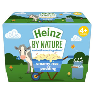 Heinz By Nature - Creamy Rice Pudding (4M+) 4 x 100g-0